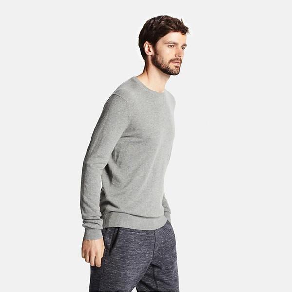 b2d39fbdb092 Men-Cotton- Cashmere-Crewneck-Sweater grande · MEN COTTON CASHMERE CREWNECK  SWEATER ...